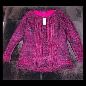 BNWT Sparkly Red Sweater 💋 Size Large